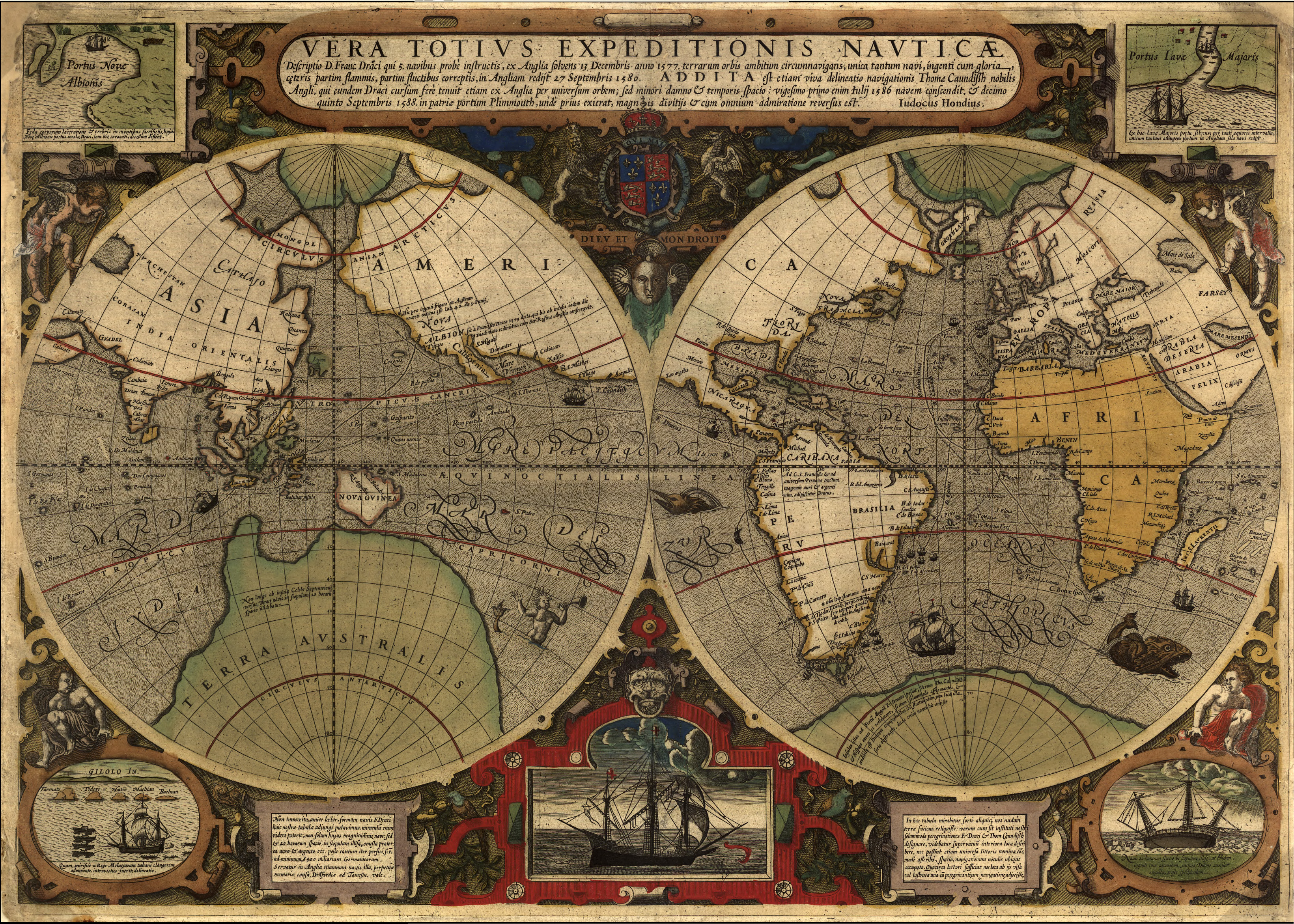 Maps time and world history intro video world history vera totius expeditionis nautic map 1565 what is world history video gumiabroncs Image collections