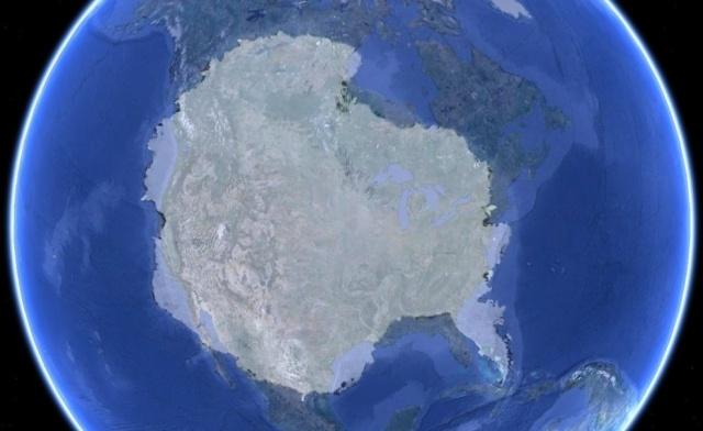 Antarctica Laid Over The United States