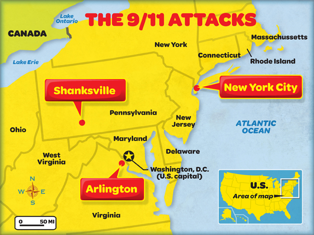 911 attacks map