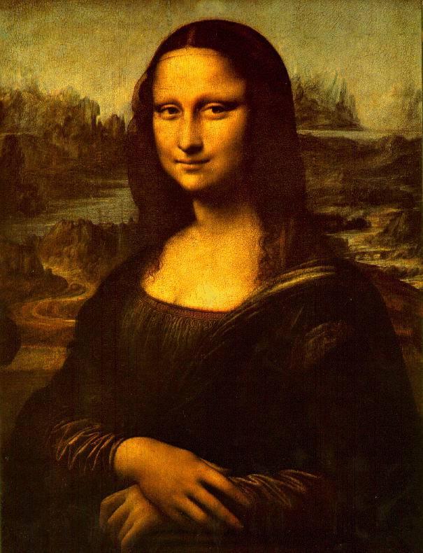 The Mona Lisa by Leonardo da Vinci, probably the most famous portrait ever made.