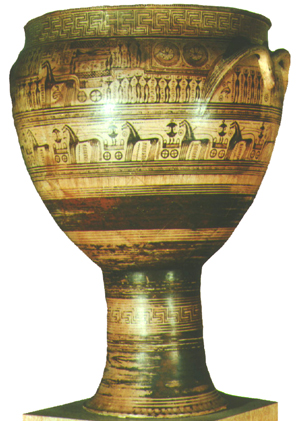 Geometric Period Vase Painting
